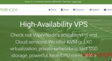 VaporNode:4美元/月 KVM 0.5核 2GB 20GB SSD 1TB 1Gbps 佛罗里达