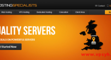 HostingSpecialists:3.99欧元/月 OpenVZ 1核 1GB 100GB 1TB 1Gbps 英国 大硬盘