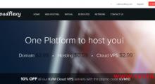 Cloudflexy:7.99美元/月 年付5折 KVM 1核 1GB 10GB 1TB 1Gbps 香港Leaseweb/新加坡OVH