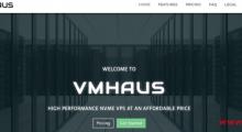 VMHaus :15美元/年 KVM 1核 256MB 5GB 500GB 1Gbps 洛杉矶QN