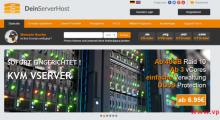 DeinServerHost:10欧元/月 KVM 4核 8GB 50GB SSD 5TB@1Gbps 德国 DDOS