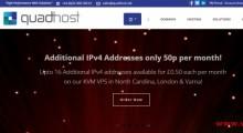 QuadHost:9欧元/年 OpenVZ 1核 512MB 15GB 1TB@1Gbps 英国